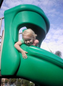 Rhi at top of slide